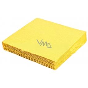Gastro Papírové ubrousky barevné žluté 2 vrstvé 33 x 33 cm 50 kusů