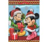 Nekupto Dárková papírová taška střední 23 x 18 x 10 cm Mickey Mouse vánoční 1189 WLGM