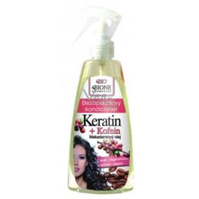 Bione Cosmetics Keratin & Kofein bezoplachový kondicionér sprej 260 ml