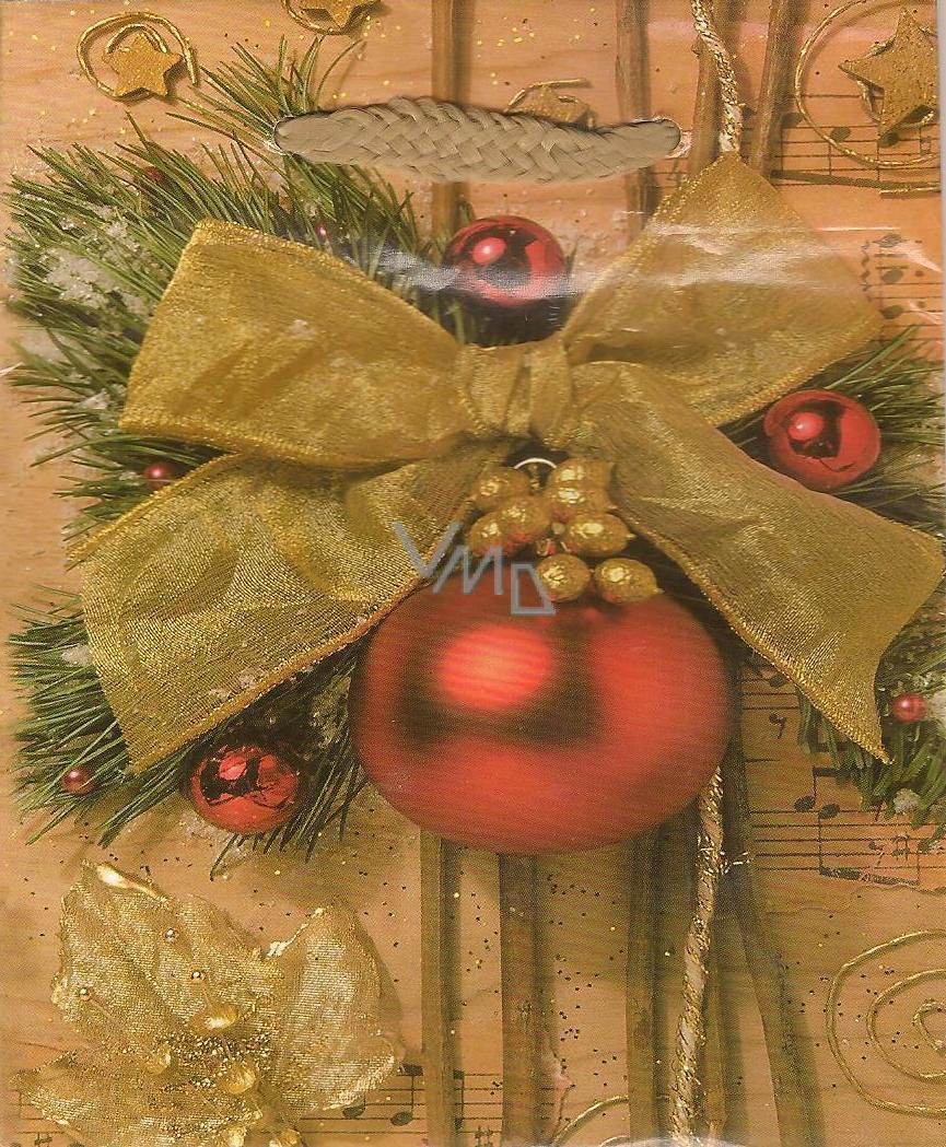 Albi Dárková papírová malá taška 13,5 x 11 x 6 cm Vánoční TS4 96255