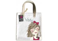 Ditipo Dívka s mašlí módní textilní taška 35 x 38 cm