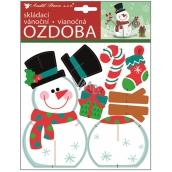 Skládaci vánoční papírová ozdoba snšhulák 23 x 19 cm