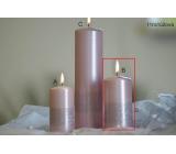 Lima Stuha svíčka světle růžová válec 60 x 120 mm 1 kus