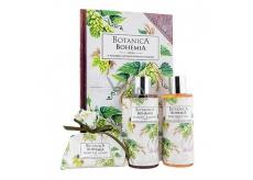 Bohemia Gifts & Cosmetics Botanica Chmel a obilí sprchový gel 200 ml + šampon 200 ml + mýdlo 100 g, kniha kosmetická sada