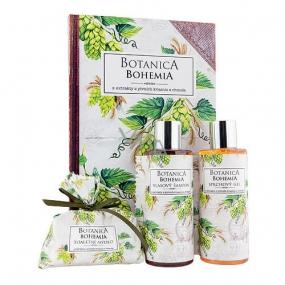 Bohemia Gifts Botanica Chmel a obilí sprchový gel 200 ml + šampon 200 ml + mýdlo 100 g, kniha kosmetická sada