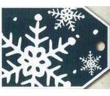 Nekupto Vánoční kartičky na dárky vločka 5,5 x 7,5 cm 6 kusů