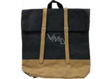Albi Eko batoh s popruhy vyrobený z pratelného papíru Černý 38 x 36 x 9 cm