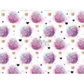Nekupto Dárková papírová taška střední 23 x 17,5 x 10 cm Balony, fialová 1858 LFM