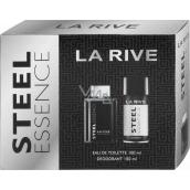 La Rive Steel Essence toaletní voda pro muže 100 ml + deodorant sprej 150 ml, dárková sada