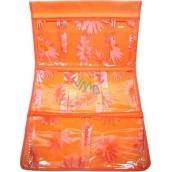 Kapsář do koupelny závěsný 674 oranžový 35 x 58 cm