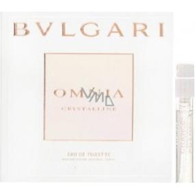 Bvlgari Omnia Crystalline toaletní voda pro ženy 1,5 ml s rozprašovačem, Vialka