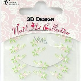 Absolute Cosmetics Nail Art 3D nálepky na nehty 24913 1 aršík