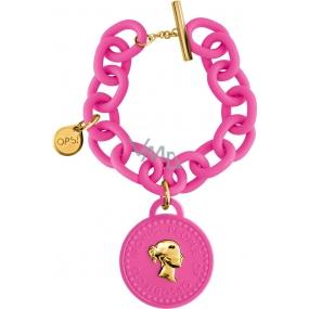 Ops! Objects Trésor 1 Coin Bracelet náramek OPSKBR1-04 růžová