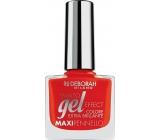 Deborah Milano Gel Effect Nail Enamel gelový lak na nehty 09 Red Pusher 11 ml