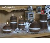 Lima Aura Skořice vonná svíčka hnědá válec v dárkové krabičce 70 x 150 mm 1 kus