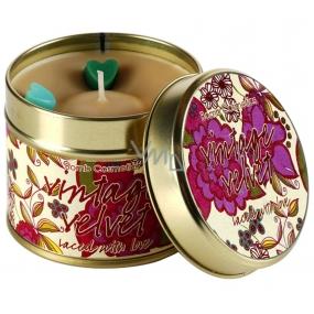 Bomb Cosmetics Sametový ročník - Vintage Velvet Vonná přírodní, ručně vyrobena svíčka v plechové dóze hoří až 35 hodin