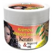 Bione Cosmetics Keratin & Arganový olej krémová vlasová maska 260 ml
