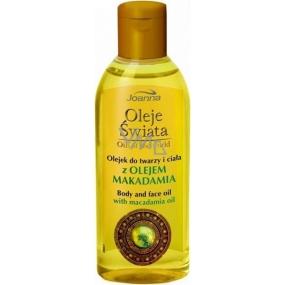 Joanna Oil Of The World Olej na tvář a tělo s makadamovým olejem 100 ml