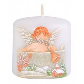 Candle Anděl s trumpetou vonná svíčka válec 50 x 50 mm