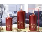 Lima Starlight svíčka červená/zlatá 60 x 120 mm 1 kud