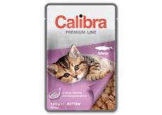 Caliba Premium Losos v omáčce kapsa kompletní krmivo pro koťata 100 g