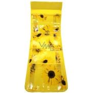 Kapsář na zavěšení žlutý 54 x 18 cm 4 kapsy 712