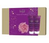 Fenjal Miss Touch of Purple sprchový gel pro ženy 200 ml + tělové mléko 200 ml + mycí houba, kosmetická sada