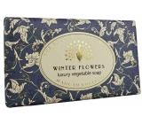 English Soap Vintage Winter Flowers přírodní parfémované toaletní mýdlo s bambuckým máslem 190 g