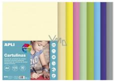 Apli Barevné papíry A4 mix pastelových barev 170 g 50 listů