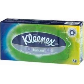 Kleenex Balsam Hanks hygienické kapesníky čtyřvrstvé 8 x 9 kusů