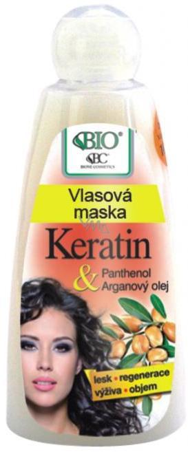 Bione Cosmetics Bio Keratin & Arganový olej vlasová maska 260 ml