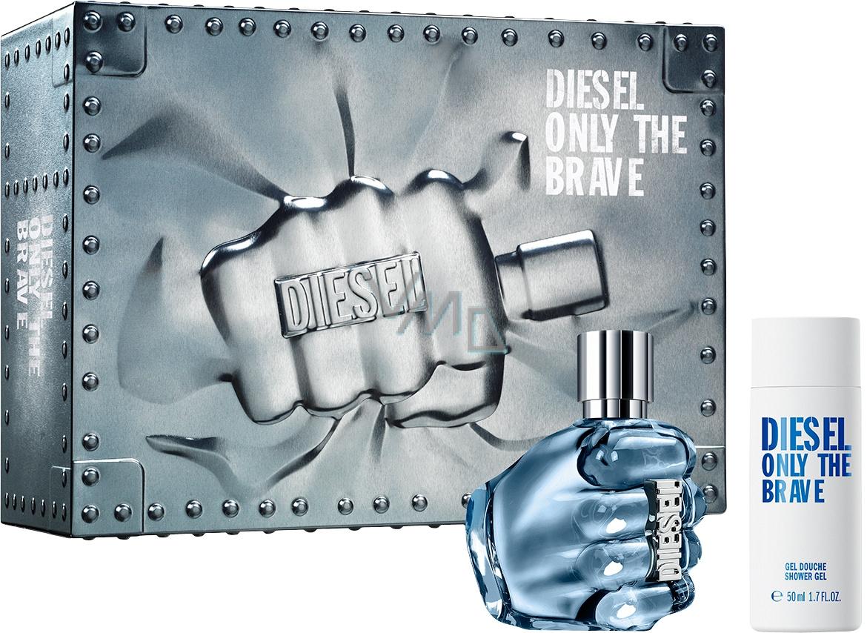 Diesel Only The Brave toaletní voda pro muže 35 ml + sprchový gel 50 ml, dárková sada