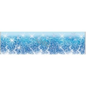 Okenní fólie bez lepidla malý pruh z ledové kolekce vločky 45 x 12 cm