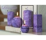 Lima Mramor Levandule vonná svíčka fialová válec 60 x 120 mm 1 kus