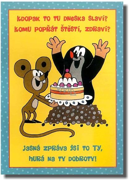 přání k 14 narozeninám Albi Hrací přání do obálky K narozeninám Narozeninový krteček Toy  přání k 14 narozeninám