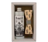 Bohemia Gifts & Cosmetics Motorkář Olivový olej sprchový gel 250 ml + dřevěný motýl kosmetická sada