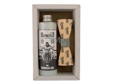 Bohemia Gifts Motorkář Olivový olej sprchový gel 250 ml + dřevěný motýl kosmetická sada