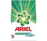Ariel Mountain Spring prací prášek pro čisté a voňavé prádlo bez skvrn 48 dávek 3,6 kg