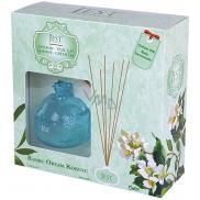 Cimen Jest Jasmín a Zelený čaj design aroma difuzér s přírodními ratanovými tyčinkami pro postupné uvolňování vůně 100 ml