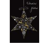 Albi Svítící přání do obálky Vánoční přání Hvězda 14,8 x 21 cm