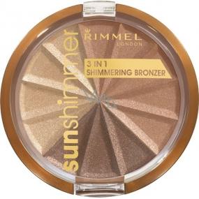 Rimmel London Sun Shimmer Shimmering Bronzer 3v1 bronzující pudr 002 Bronze Goddess 9,9 g