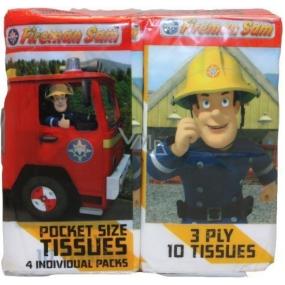Požárník Sam papírové kapesníčky pro děti 3 vrstvé 4 x 10 kusů