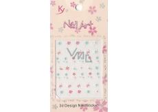 Nail Accessory 3D nálepky na nehty 1 aršík 10100 KYA11
