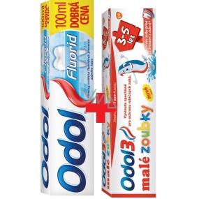 Odol Fluorid zubní pasta 100 ml + Odol3 Malé zoubky 3-5 let zubní pasta 50 ml, duopack