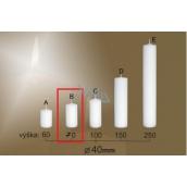 Lima Gastro hladká svíčka bílá válec 40 x 70 mm 1 kus