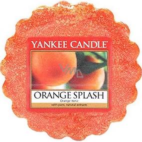Yankee Candle Orange Splash - Pomerančová šťáva vonný vosk do aromalampy 22 g