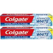 Colgate Advanced White zubní pasta 2 x 75 ml, duopack