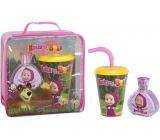 Máša a Medvěd toaletní voda pro děti 50 ml + kelímek, dárková sada