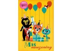 Ditipo Hrací přání k narozeninám Máš narozeniny - Zvířátka Máme rádi zvířata - Jitka Molavcová, Bambini di Praga 224 x 157 mm