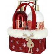 Vivian Gray Christmas Red tekuté mýdlo 250 ml + mléko na ruce 250 ml, kosmetická sada